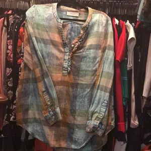 Anthropologie Flannel Tunic